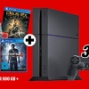 PS4 Konsole 500GB + Tom Clancy's The Division + Uncharted 4 + Deus Ex: Mankind Divided für 339€