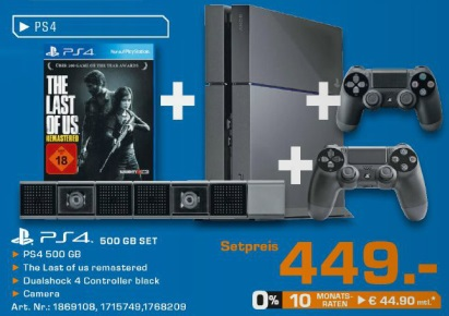 Saturn: PS4 Bundle (Konsole + The Last of Us Remastered ...